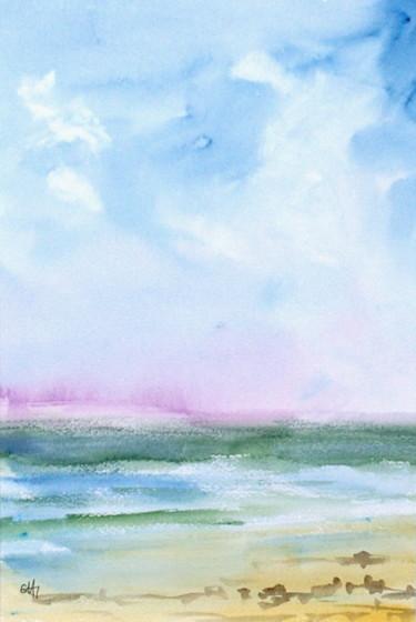 la plage qui regardait passer les nuages